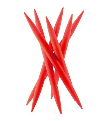 SPICY Knivställ med 6 st köttknivar Röd