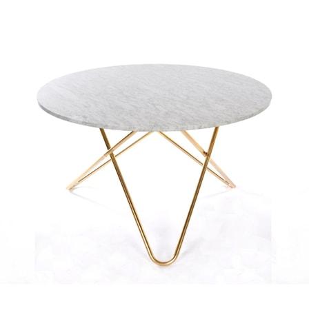 OX DENMARQ Big O table Matbord Mässing