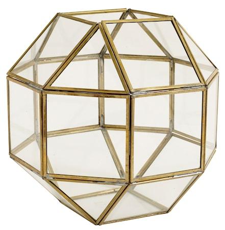 Nordal Edged brass lantern – Medium