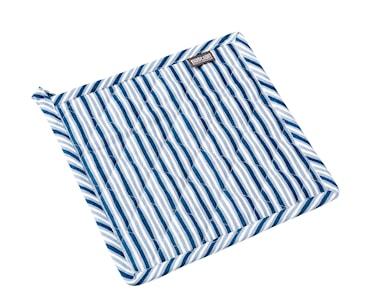 Grytlapp Randig 20x20cm blå/vit