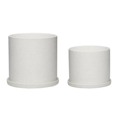 Kruka Keramik Vit 2 st