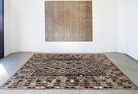 Kelim Natur Matta Dark Grå/Brun/Svart 150x200 cm