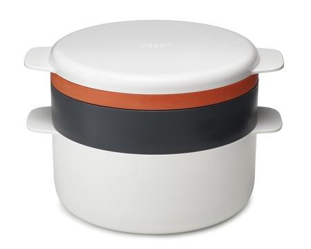 Joseph Joseph M-Cuisine Mikrouunikeitin Valkoinen/Harmaa/Oranssi - 2 litraa