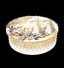 Dosa med lock, Mascarade, guld, Ø16 cm