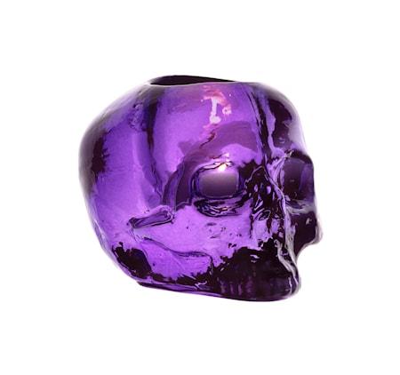 Kosta Boda Still Life Skull Lila Ljuslykta Ø 11,5 cm