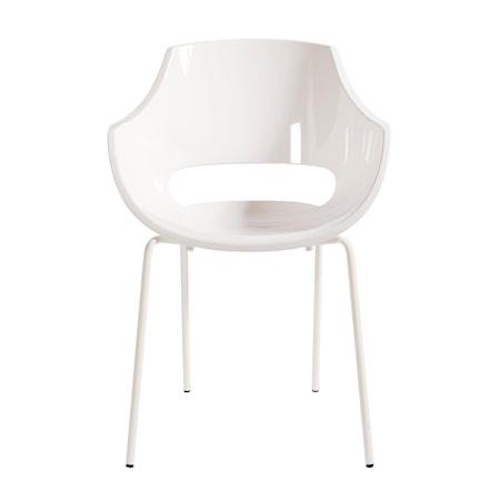 Opal Stol Vit Polykarbonat/Puderlack 60 x 81 x 56