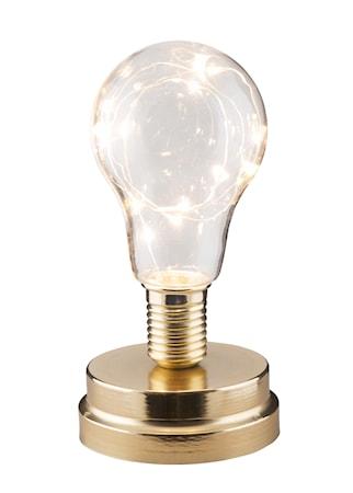 Lykta med LED-slinga Mässing 18 cm