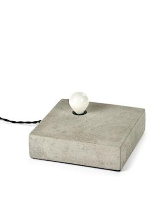 Bords/Vägglampa Singel Cement 20x20