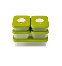 Dial storage 5-piece container set Rectangular (2.4L/1L/0.7L)