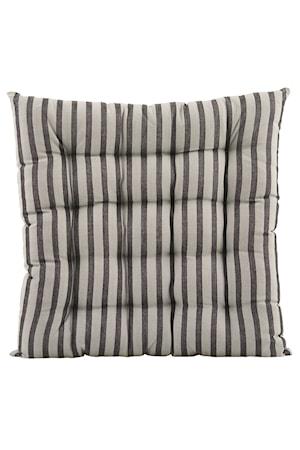 House Doctor Sittdyna Stripe by stripe 50x50 cm - Svart/Grå