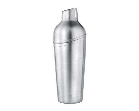 Shaker med sil lutande lock matt stål - 0,7 liter