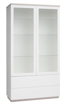 Hiipakka Sonaatti vitrin - 100 cm Sonaatti vitrin - 100 cm - frostat glas - vit/ask