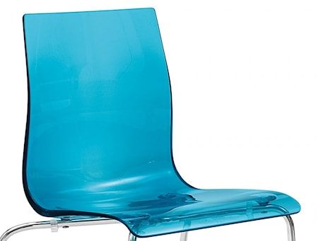 Domitalia Gel SGA barstol - Aluminium, Blå