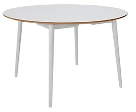 RGE Perstorp Ø118 matbord - Vit med vita ben