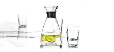 Karaffset med 4 glas, 25 cl. 1,0 l