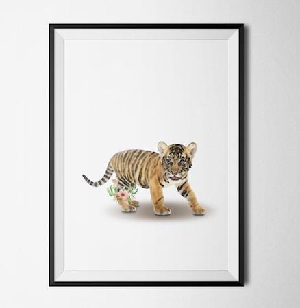 Bilde av Konstgaraget Tiger flower poster