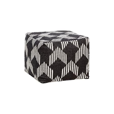 Hübsch Square pattern sittpuff