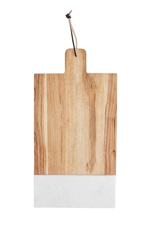 Madam Stoltz Leikkuulauta 47,5x30 cm - Valkoinen/natur