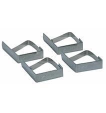Klämmor för duk 4-pack Rostfritt stål