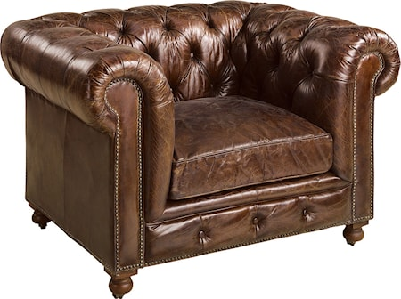 Artwood Kensington Fåtölj - Vintage leather cigar