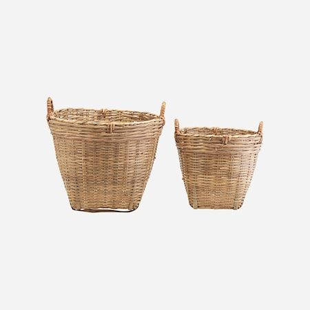 Korgar Set med 2 storlekar Bambu h: 37 cm & h: 26 cm