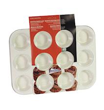 Ceramic Muffinsform 12 st Creme