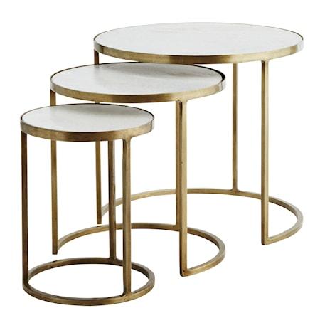 Bilde av Madam Stoltz Three marble brass sofabord