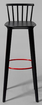 minus tio Jackie barstol svart ? H78, röd