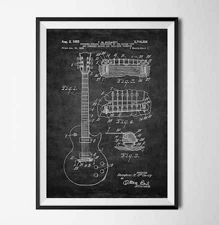 Bilde av Konstgaraget Patent guitar svart poster