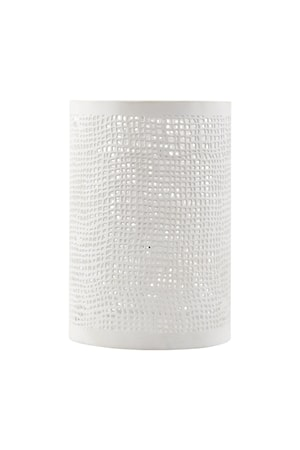Ljuslykta Ø 8x12 cm - Vit