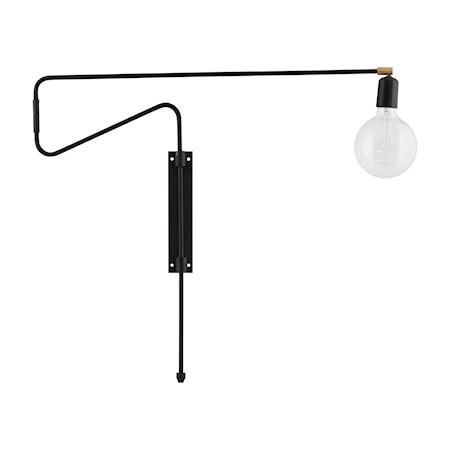 Bilde av House Doctor Swing Vegglampe Svart 70 cm
