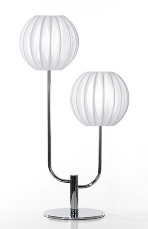 Bilde av Globen Lighting Bordlampe Plastbånd Duo Hvit / Krom