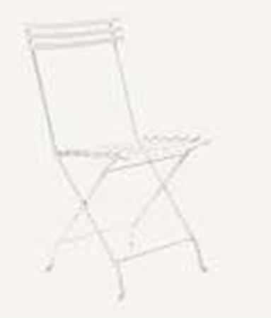 Ethimo Flower folding stol - Vit