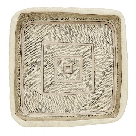 ART Väggdekoration Tallrik Rund Paper Maché