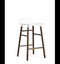 Form Barstol Vit/Valnöt 65 cm