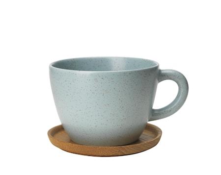 Rörstrand Höganäs Keramik Temugg 50 cl med träfat frost matt