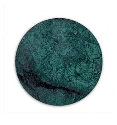Rund Marmorbricka Grön Ø30 cm