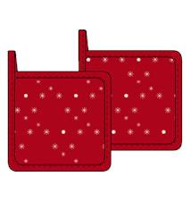 Grytlappar 2-pack 20x20 cm röd