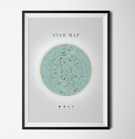 Bilde av Konstgaraget Star map poster
