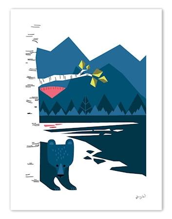 Bilde av Wallmark formstudio Mittåkläppen poster