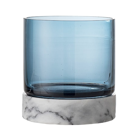 Ljuslykta Blå Glas 12 cm