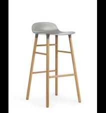 Form Barstol Grå/Ek 75 cm