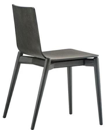 Pedrali Malmö 390 stol - svart/ask