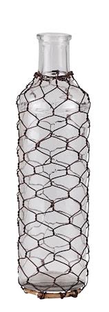 Bilde av KJ Collection Vase Glass/Stål 25 cm