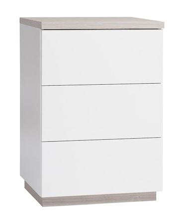 Hiipakka Sonaatti byrå - 50 cm - vit/ask