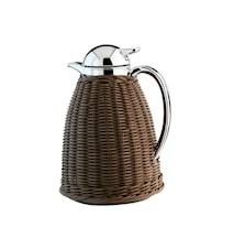 Albergo termoskanna flätad brun/krom 1 liter
