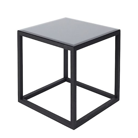 Kristina Dam Studio Cube Sidobord Small Mirror - svart
