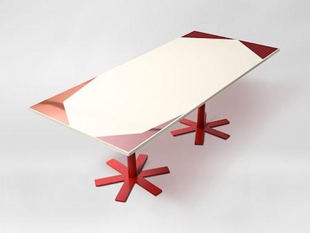 Petite Friture Parrot matbord 90x200 - Cream pink pattern