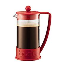 Brazil Kaffebryggare 8 koppar 1 liter Röd