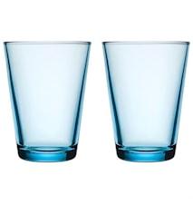 Kartio Ljusblå Glas 40 cl 2-pack